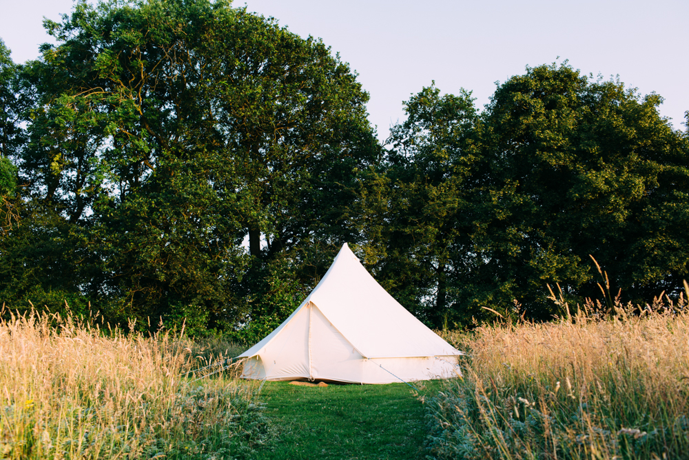 bell tents at macs farm ditchling