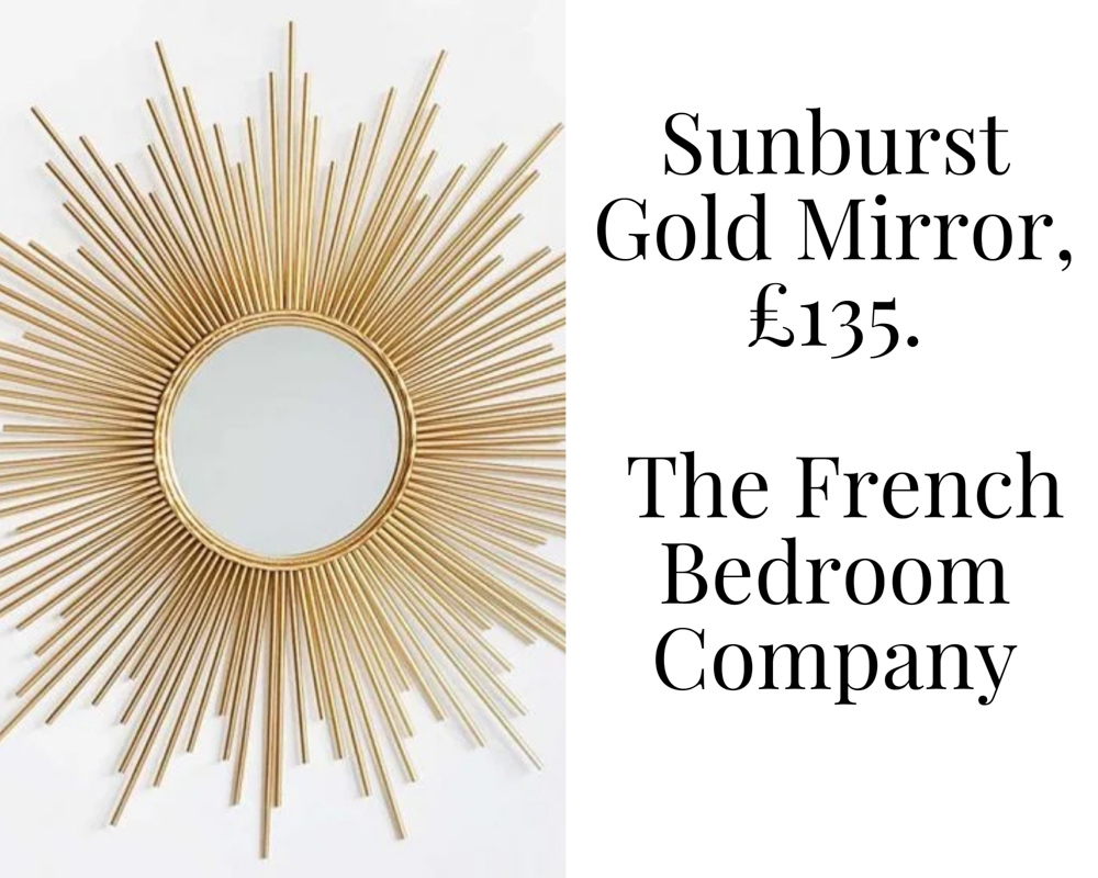 Sunburst Gold Mirror by The French Bedroom Company