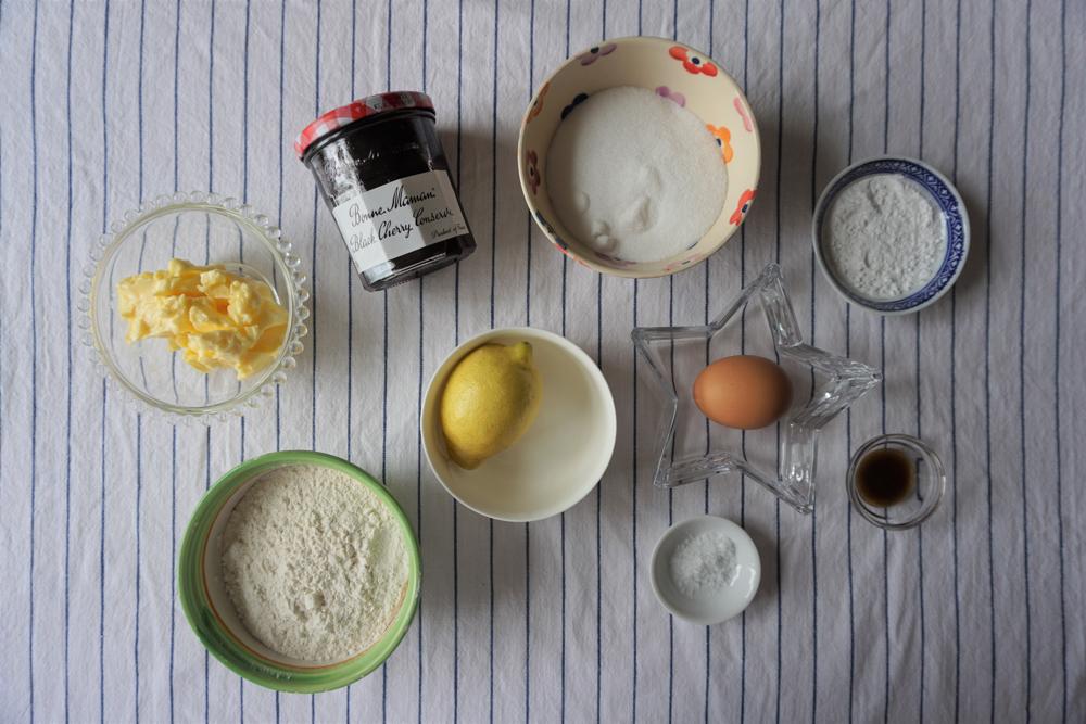Cherry Linzer Biscuits Recipe