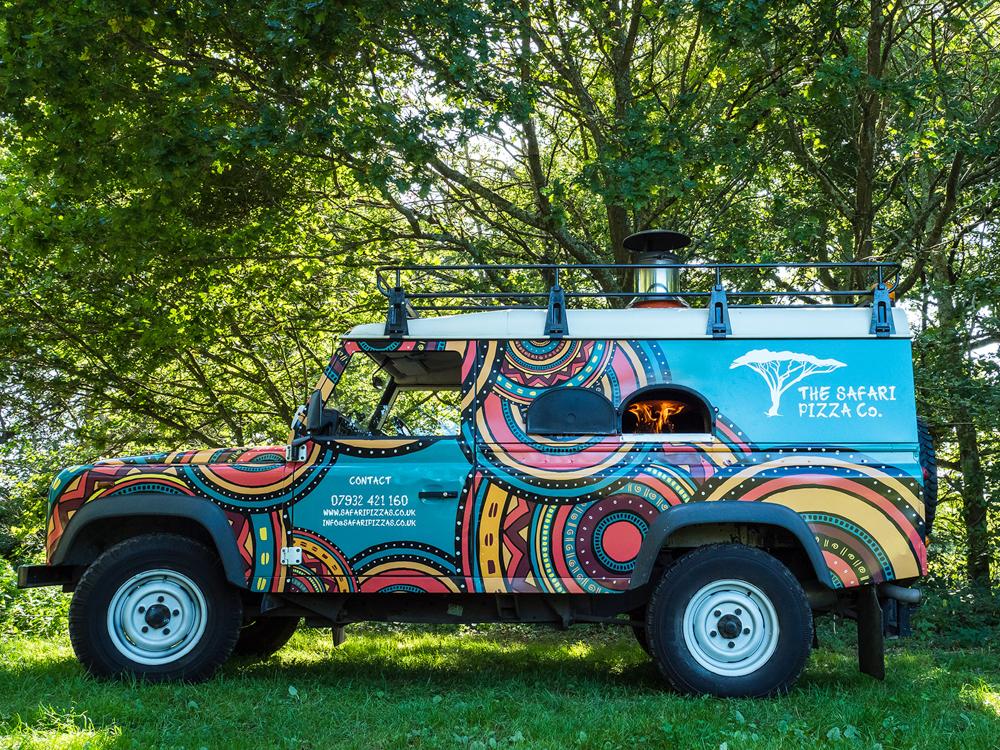 Safari Pizza Co Van